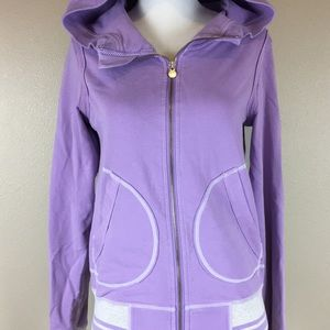 lululemon purple zip up track jacket